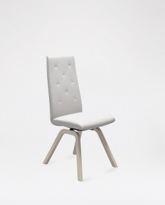 High Back Chair in Leather