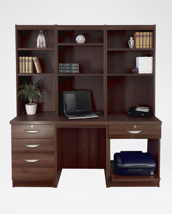Drawer Units with Hutch Bookcases