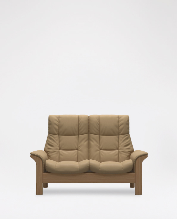 Windsor High Back 2 Seater Leather