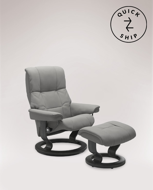 Stressless Mayfair Medium Chair and Footstool,